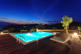 big luxury pool with villa - 126324877