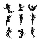 Silhouettes Of Fairies    Wall Sticker