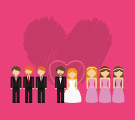 wedding marriage love icon vector illustration graphic design