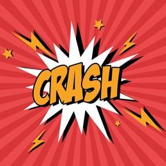 Bubble pop art of crash icon. Comic communication retro and expression theme. Vector illustration