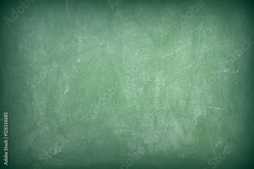Green chalkboard texture as background