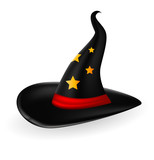witch hat with an red band for you design