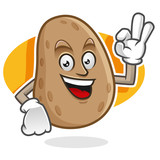 Delicious potato mascot, potato character, potato cartoon - 126344644
