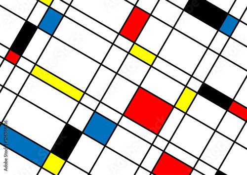 Obraz Abstract minimal geometric lines and squares shapes design backg