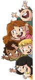 grupo de niños felices - 126367820