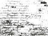 Fototapety Distressed overlay texture of old brickwork, grunge background. abstract halftone vector illustration.