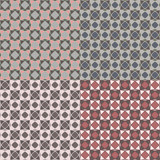 Ornate geometric seamless pattern in the old colors, vector illustration