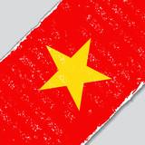 Vietnamese grunge flag. Vector illustration.