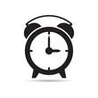 Постер, плакат: Векторная иллюстрация иконка простой символ плоский для веб alarm clock будильник