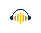 Music Headphone Logo Design Element