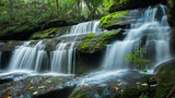 Beautiful waterfall in deep jungle