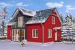 Einfamilienhaus im Winter - weihnachtlich dekoriert - Tag