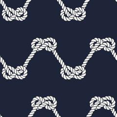 Seamless nautical rope pattern - Figure 8 knots