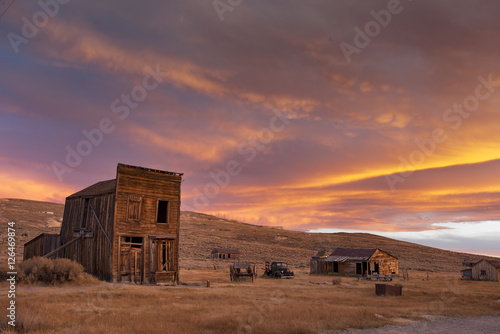 Sunset, Ghost Town of Bodie Poster