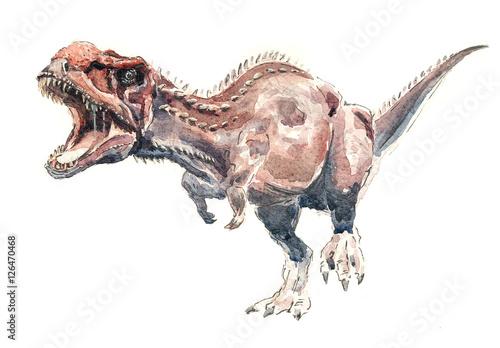 Poster Динозавр. Майюнгазавр акварель
