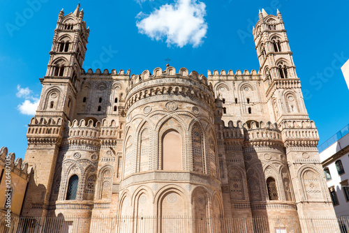 Tuinposter Palermo Backside of the huge cathedral in Palermo, Sicily