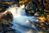 beautiful waterfall in forest, Tatras Mountains, Poland