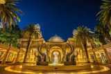 Fototapety Long exposure night shot of, SABLE FOUNTAIN at the Suncity, South Africa