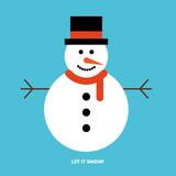Snowman greeting card - 126500476