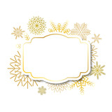 Winter vintage label on snowflakes background - 126500831