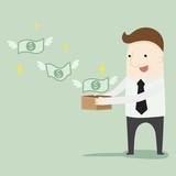 Passive income ,vector illustration cartoon