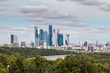 view of the Moscow City/ view from Sparrow Hills, Moscow, Russia