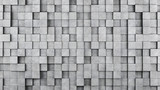 Wall of concrete cubes as wallpaper or background. 3D rendering - 126510858
