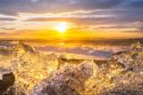 Ices On the beach at Jokulsarlon - southeast Iceland