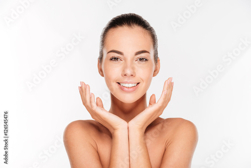 Tela Beauty portrait of a young woman with fresh skin