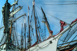 Historic tall ships docked in the harbor at Dana Point California - 126573822