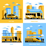 Fototapety City Transportation 2x2 Design Concept