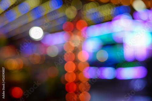 Poster Abstract defocused bokeh lights background