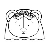 teddy bear bride icon image vector illustration design