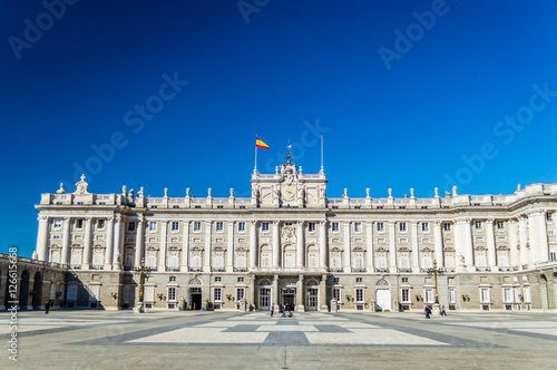 The Royal Palace of Madrid (Palacio Real de Madrid) - the official residence of Poster