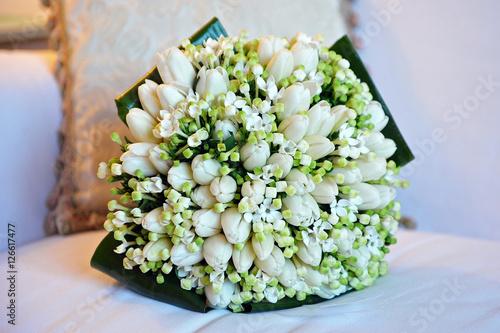 Bouquet sposa - mughetto - tulipani