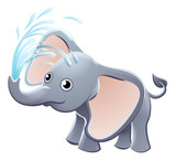 Elephant Playing Animal Cartoon Character