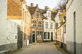 lonely street of brugges, belgium