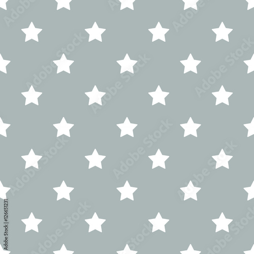 Seamless stars pattern vector - 126651231
