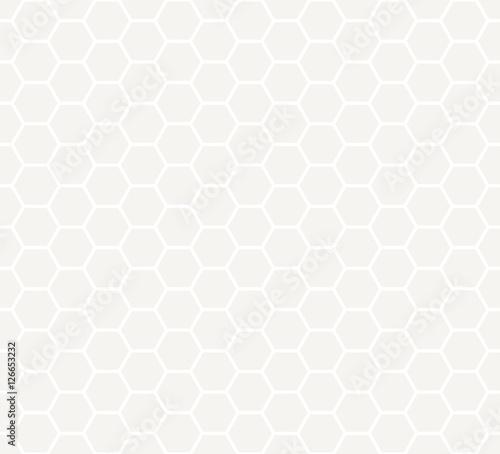 hexagon geometric light gray graphic design pattern - 126653232