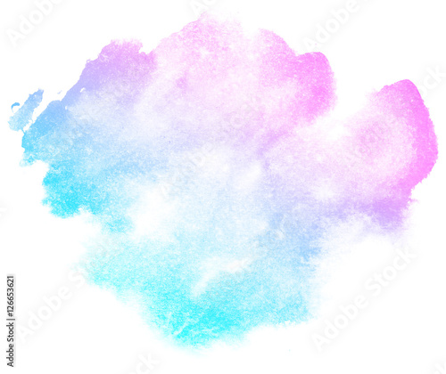 Abstract pink watercolor on white background.This is watercolor splash.It is drawn by hand. - 126653621