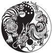 dragon and tiger yin yang symbol of harmony and balance