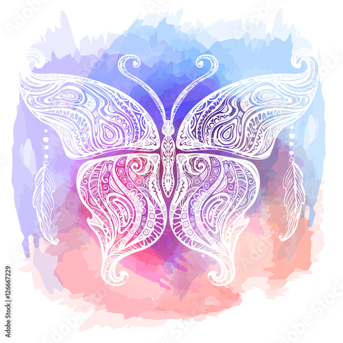 vector butterfly tattoo