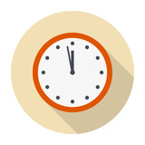 Clock Flat Icon Vector Illustration.