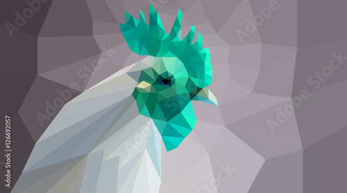 green polygonal cock head - 126692057