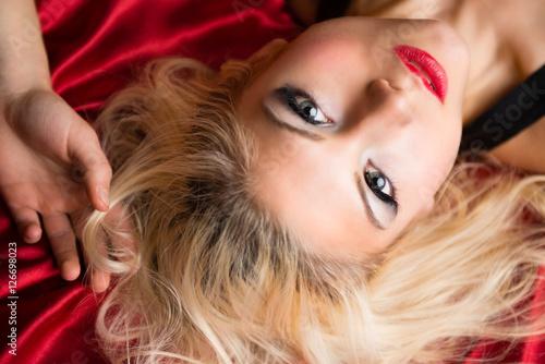 Poster Blonde Glamour Model
