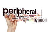 Peripheral vision word cloud concept
