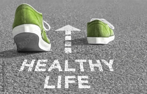 The way to a Healthy Life Poster