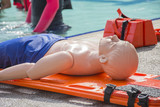 chid dummy cpr and drownind on the long spinal board