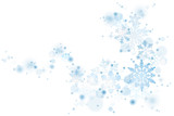 Swirl of blue Christmas snowflakes on white - 126736215