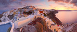 View of Oia village on Santorini island in Greece. - 126745620